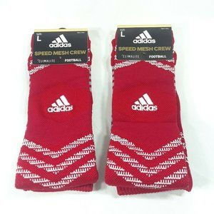 Adidas 2 Climalite Football Speed Mesh Crew Socks